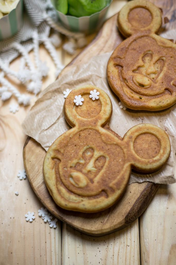 Gofry bezglutenowe, gofry do słabej gofrownicy, gofry Mickey Mouse