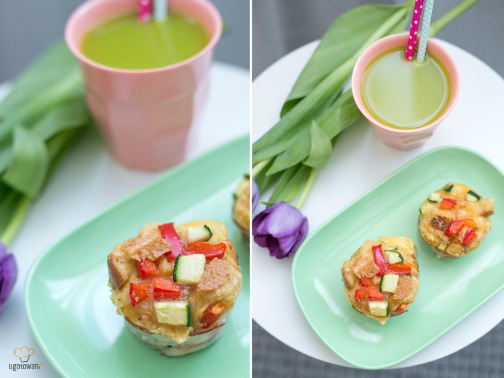 Muffiny z jajek i czerstwego pieczywa