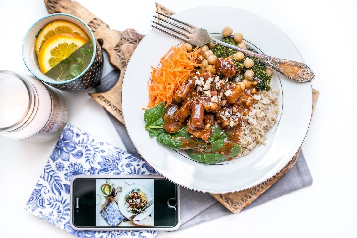 Orzechowe tofu na brązowym ryżu (2)