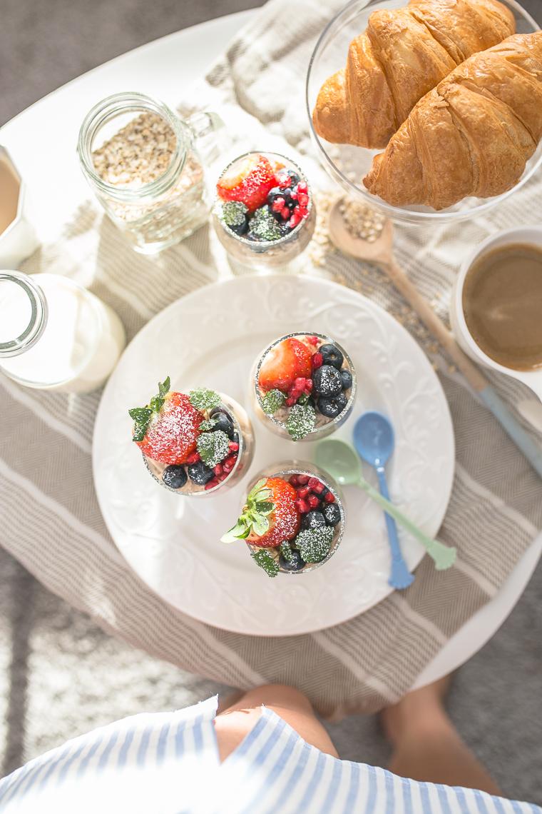 fit śniadanie szarlotka z owsianką