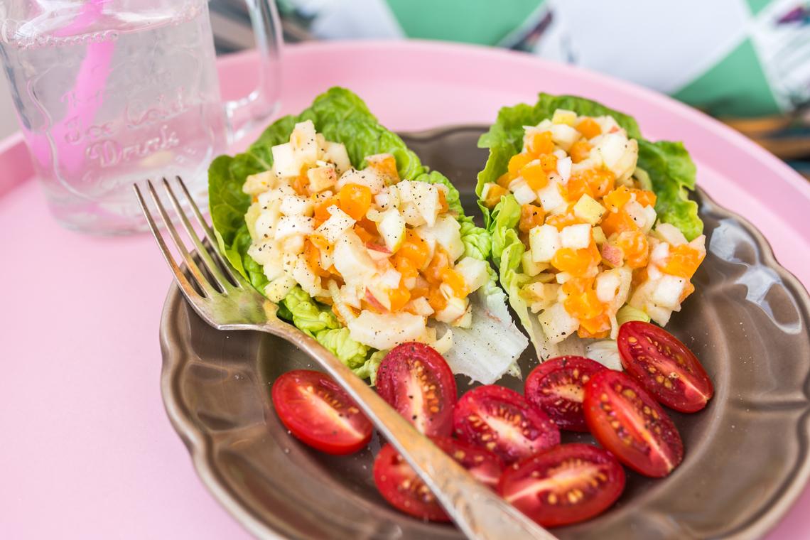 Post Dąbrowskiej - sałatka warzywna z majonezem z kalafiora