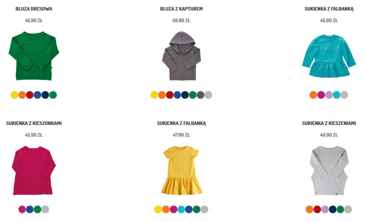 ubrania do przedszkola