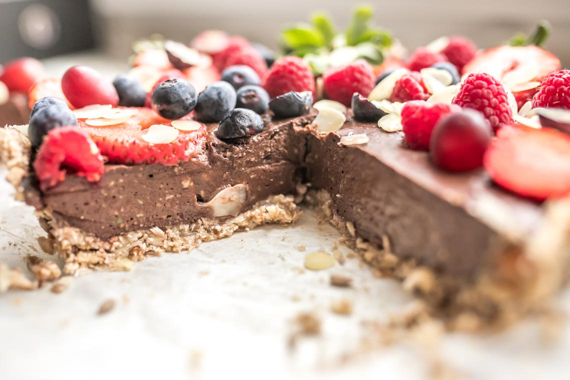 FIT Tarta, tarta bez pieczenia, tarta bez glutenu, zdrowa tarta, tarta z owocami