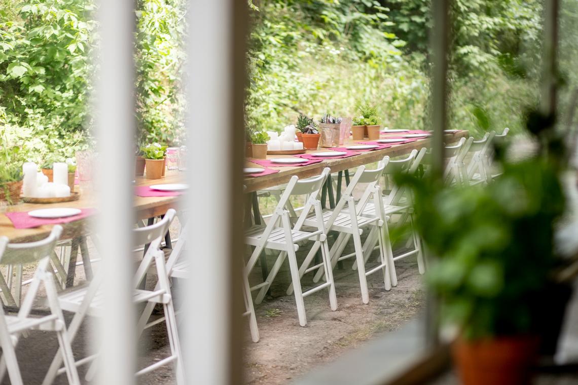 bezglutenowe pierogi, pierogi z soczewicą, przyjęcie w ogrodzie