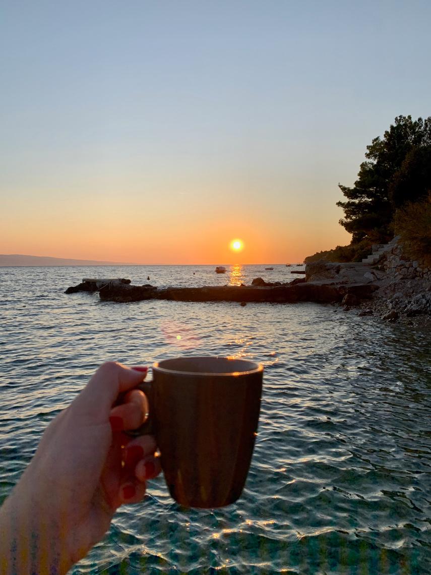 zdjęcie z wakacji, jak uważnie żyć, jak być szczęśliwym człowiekiem, chorwacja, camping solaris
