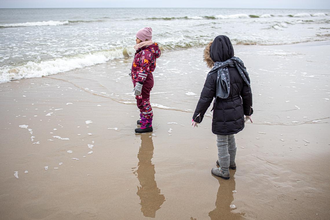 Kąty Rybackie dla dzieci, hotel tristan, hotel dla rodzin z dziecmi nad morzem, morze zimą, mamagerka
