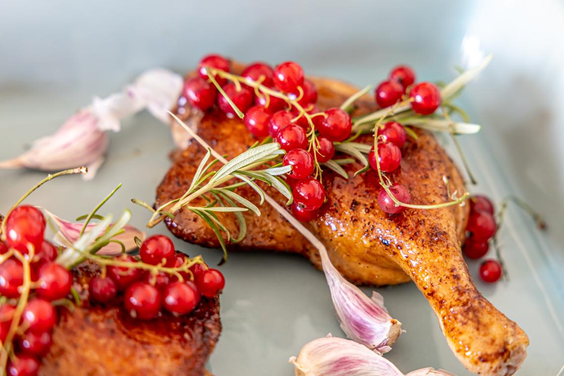 kaczka w sosie truskawkowo miętowym, przepis na kaczkę, jak zrobić kaczkę, mamagerka, carrefour