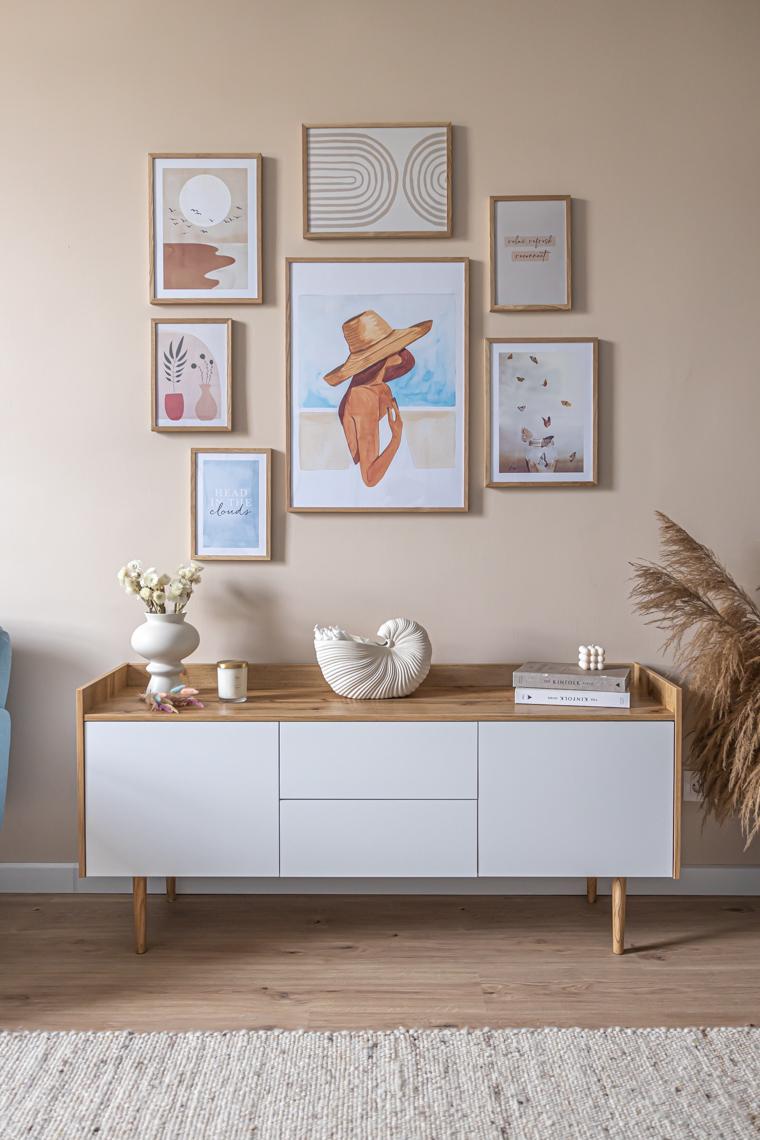 galeria plakatów mamagerka, desenio, jak zaplanować plakaty na ścianę, galeria plakatów w biurze